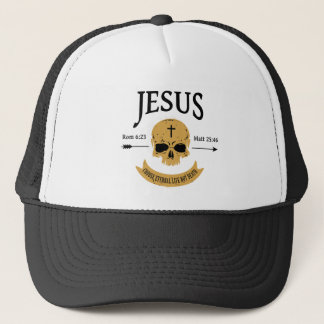 Jesus Skull Eternal Life Christian Trucker Hat