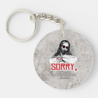Jesus - Sorry I pick Merica as my favorite country Single-Sided Round Acrylic Keychain