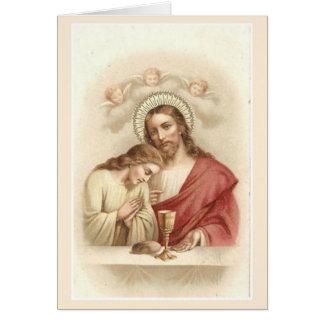 Jesus St. John Catholic Mass Offering Card