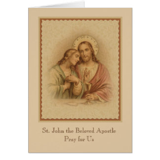Jesus & St. John the Apostle Prayer Card