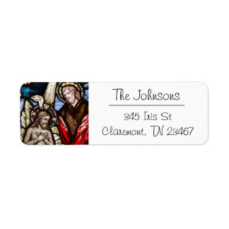 Jesus Stained Glass Return Address Mailing Label Return Address Label