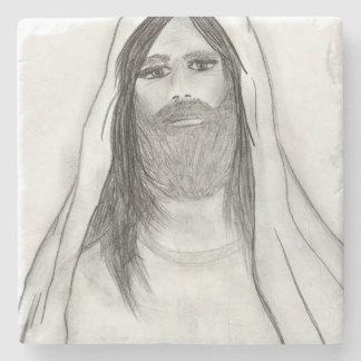JESUS STANDING II STONE COASTER