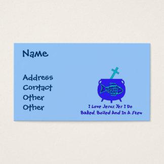 Jesus Stew Business Card