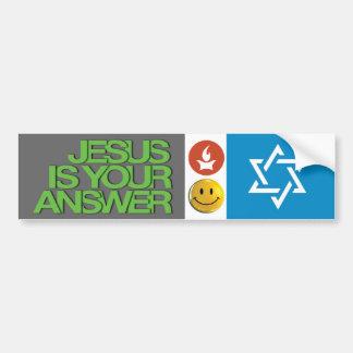 Jesus stuff bumper sticker