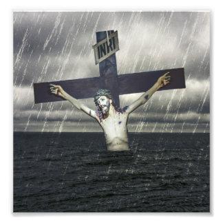 Jésus sur la croix à la mer photographe