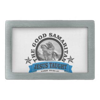 Jesus taught good samaritan rectangular belt buckle