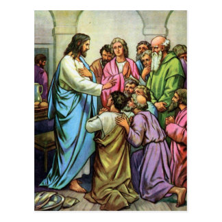Jesus Teaching A New Commandment Postcard