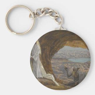 Jesus Tempted in Wilderness Keychain