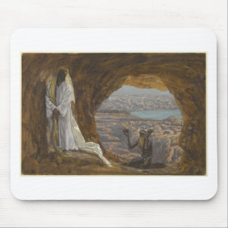 Jesus Tempted in Wilderness Mouse Pad
