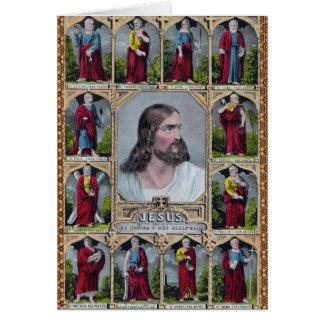 Jesus & The 12 Apostles Card