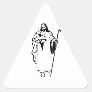 Jesus The Lamb Triangle Sticker