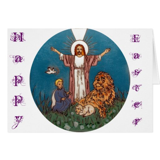 Jesus the Lion and the Lamb Greeting Card