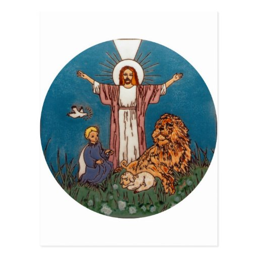 Jesus the Lion and the Lamb Post Card