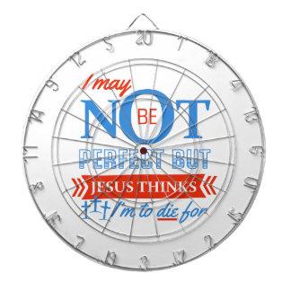 Jesus thinks I'm to die for Dartboard