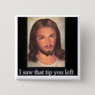 Jesus tips 20% 2 inch square button