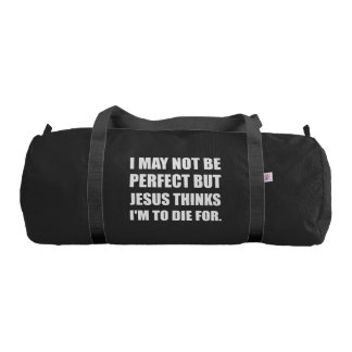 Jesus To Die For Gym Bag