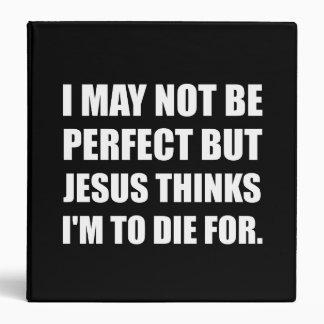 Jesus To Die For Vinyl Binder