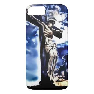 Jesus Tribute Airbrush Art Nouveau Print iPhone 7 Case