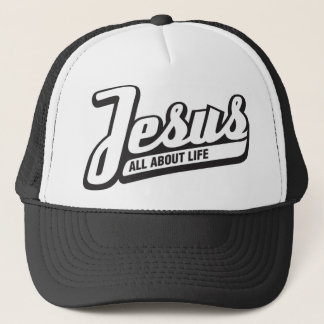 Jesus Trucker Cap - Black and White