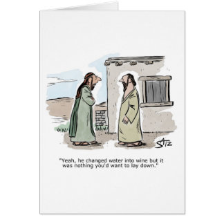 Jesus turned water into wine discussion card