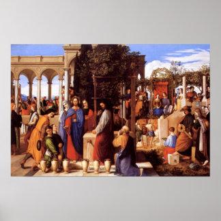 Jesus Turning Water Into Wine (John 2: 1-11) Poster