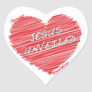 Jesus Unveiled Heart Stickers