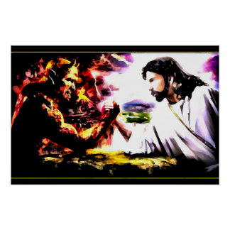 Jesus Vs Satan - Armegeddon Poster