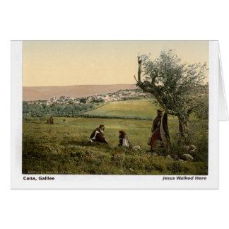 Jesus Walked Here: Cana, Galilee Greeting Card