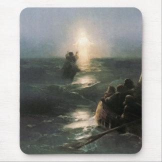 Jesus Walking on Stormy Seas Mouse Pad