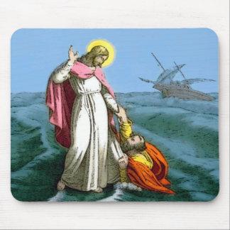Jesus Walking on Water Mousepad