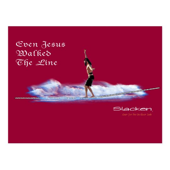 jesus walking the line postcard