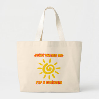Jesus Wants Me For a Sunbeam Large Tote Bag