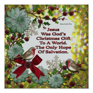 Jesus Was God's Christmas Gift Card