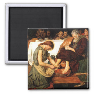 Jesus washes the Disciples feet Magnet
