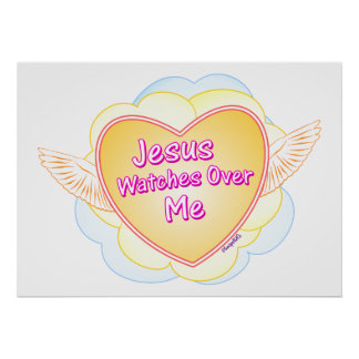 Jesus Watches Over Me Poster