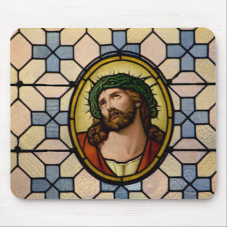 Jesus Wearing Crown Of Thorns Mouse Pad