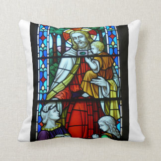 Jesus with Childrens Throw Pillow