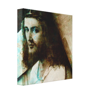 Jesus With Cross Canvas Print