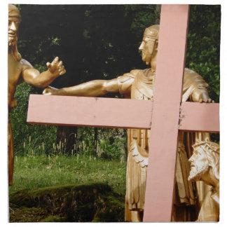 Jesus with cross napkin
