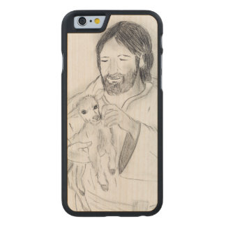 Jesus With Lamb Carved Maple iPhone 6 Case