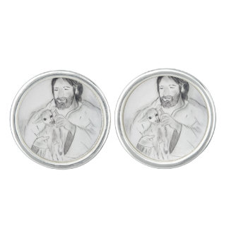 Jesus With Lamb Cuff Links