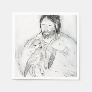 Jesus With Lamb Disposable Napkins