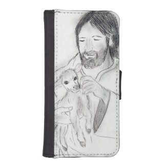 Jesus With Lamb iPhone SE/5/5s Wallet Case