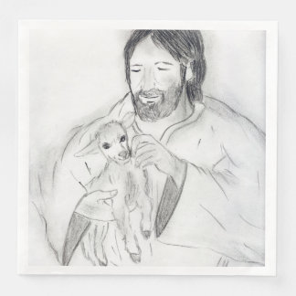 Jesus With Lamb Paper Napkins