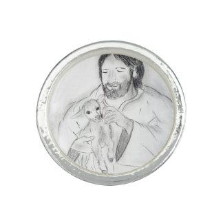 Jesus With Lamb Ring