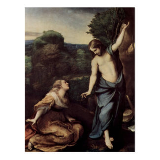 Jesus with Mary After Resurrection Postcard