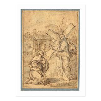 JESUS WITH PETER POSTCARD
