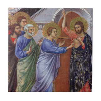 Jesus with Thomas and Apostles c1311 Tile