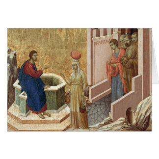 Jesus with Woman at Well Card