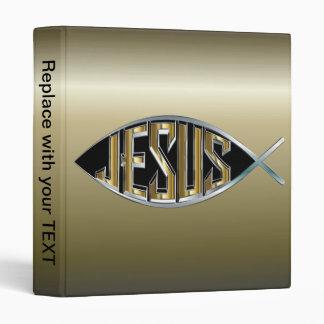 Jesus within a Fish Symbol Binder